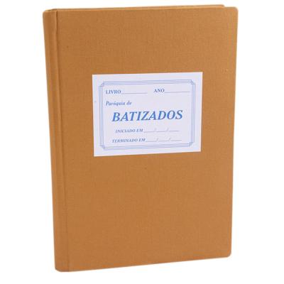 LIVRO DE REGISTRO BATISMO COM ÍNDICE COM 200 FOLHAS
