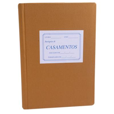 LIVRO DE REGISTRO CASAMENTO SEM ÍNDICE COM 200 FOLHAS  800 TERMOS - 22X32
