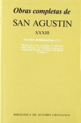 OBRAS COMPLETAS DE SAN AGUSTIN XXXIII