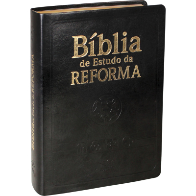 BÍBLIA DE ESTUDO DA REFORMA - LUXO GRANDE PRETA