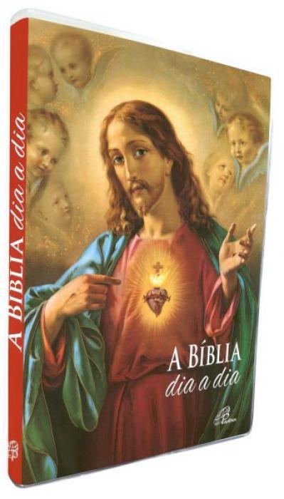 BÍBLIA DIA A DIA 2020 - CAPA CRISTAL - CORAÇÃO DE JESUS