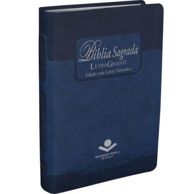 BIBLIA SAGRADA LETRA GIGANTE AZUL - EDICAO COM LETRAS VERMELHAS
