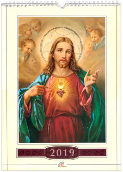 CALENDÁRIO DE PAREDE SAGRADO CORAÇÃO DE JESUS 2019