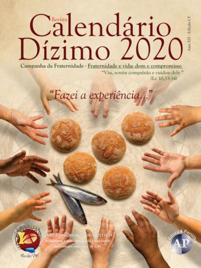 CALENDÁRIO DO DÍZIMO 2020 - MODELO 1(FORMATO PADRÃO)