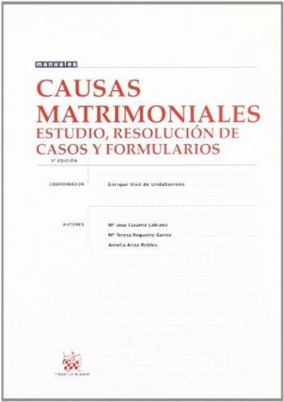 CAUSAS  MATRIMONIALES - ESTUDIOS RESOLUCIONES DE CASOS Y FORMULARIOS  - 3ª