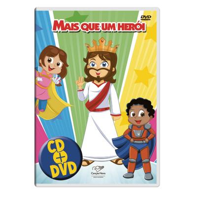 CD E DVD INFANTIL - MAIS QUE UM HERÓI