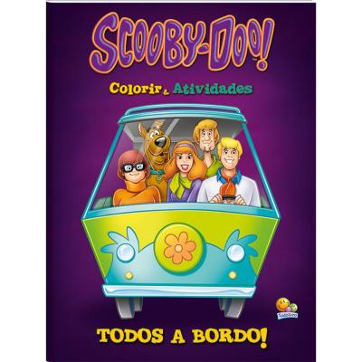 COLORIR E ATIVIDADES - SCOOBY-DOO! TODOS A BORDO!