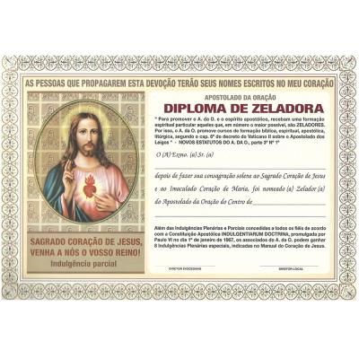 DIPLOMA DO APOSTOLADO DA ORAÇÃO ZELADORA
