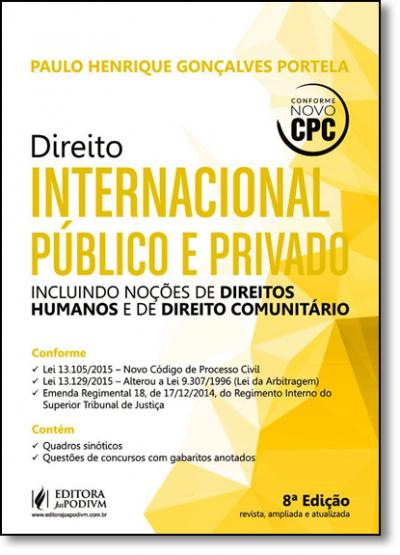 DIREITO INTERNACIONAL PÚBLICO E PRIVADO - INCLUINDO DIREITOS HUMANOS E COMUNITÁRIO (2016)