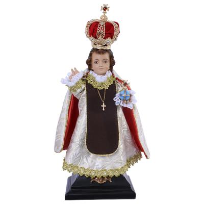 IMAGEM ANSV MENINO JESUS DE PRAGA 47CM RESINA COLORIDA