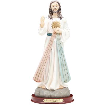 IMAGEM JESUS MISERICORDIOSO 10CM DE ALTURA