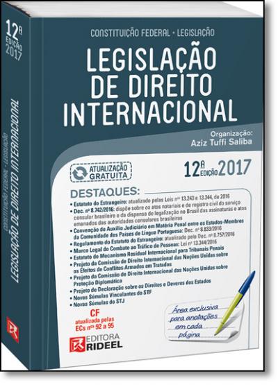 LEGISLACAO DE DIREITO INTERNACIONAL