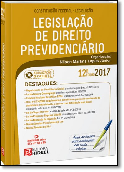 LEGISLACAO DE DIREITO PREVIDENCIARIO