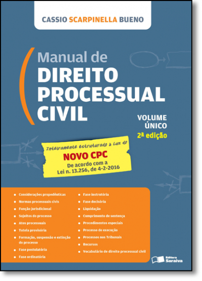 MANUAL DE DIREITO PROCESSUAL CIVIL - LEI Nº 13.105, DE 16.03.2015 - VOL. UNICO