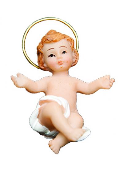 MENINO JESUS COM AURÉOLA RESINA 5CM