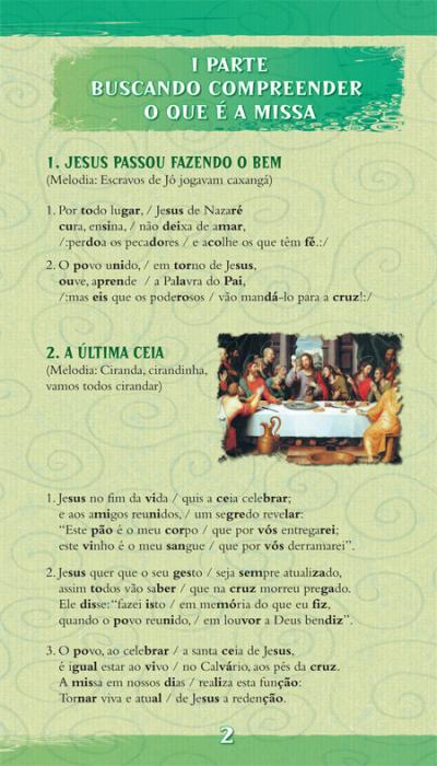 MISSA EXPLICADA AS CRIANCAS, A - FOLHETO