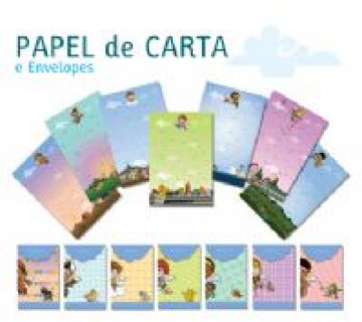 PAPEL DE CARTA E ENVELOPES - ANJINHOS DO BRASIL
