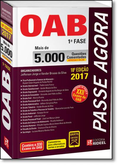 PASSE AGORA - 5.000 QUESTOES COMENTADAS DA OAB 1ª FASE