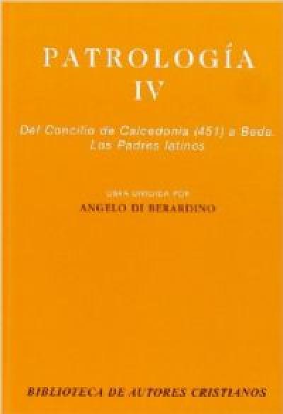 PATROLOGIA IV  - DEL CONCILIO DE CALCEDONI - 1ª