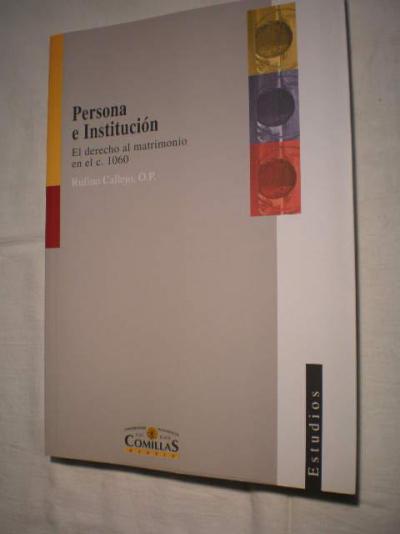 PERSONA E INSTITUCION  - 1ª
