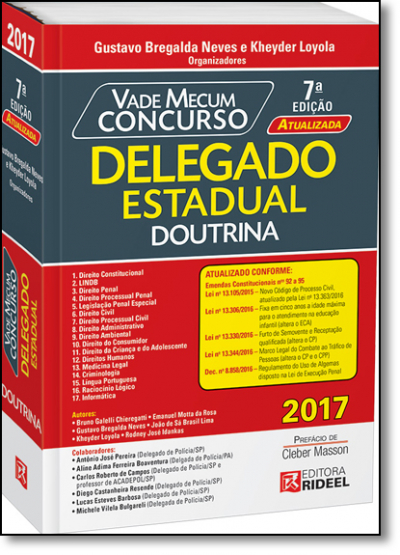 VADE MECUM CONCURSO - DELEGADO ESTADUAL DOUTRINA
