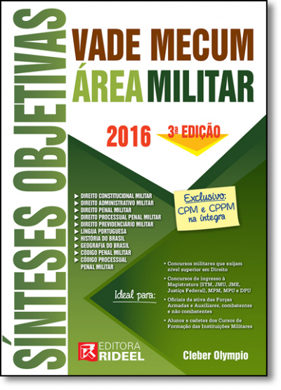 VADE MECUM SÍNTESES OBJETIVAS - ÁREA MILITAR - 3ª ED. 2016